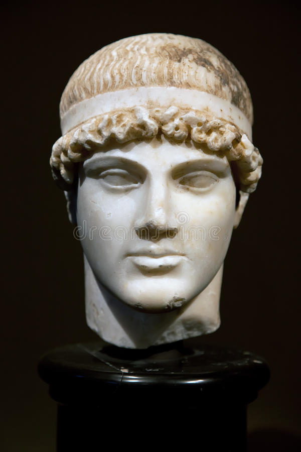 Head Of An Ancient Greek Statue Royalty Free Stock Photography