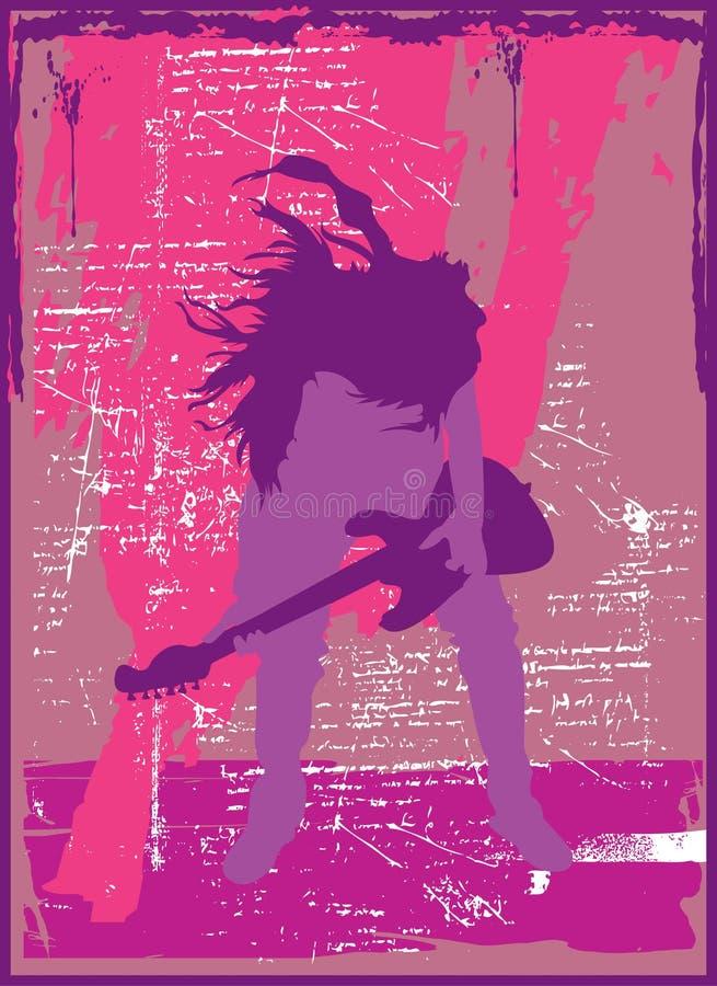 Head Banging Guitarist vector illustration