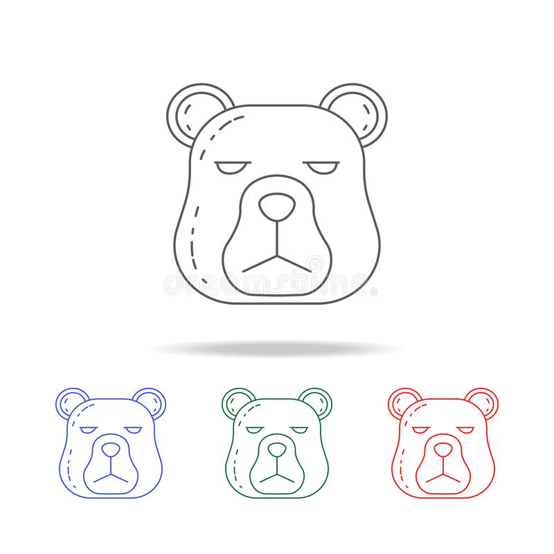 the head of a bear icon. Elements of camping multi colored icons. Premium quality graphic design icon. Simple icon for websites, w royalty free illustration