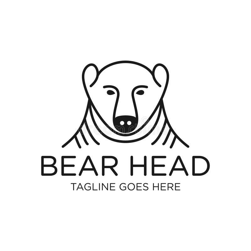 Head bear outline logo. Your company royalty free illustration