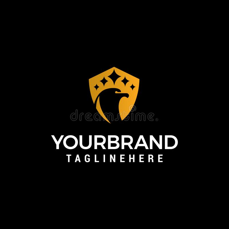 Head bird luxury logo design concept template. Vector vector illustration