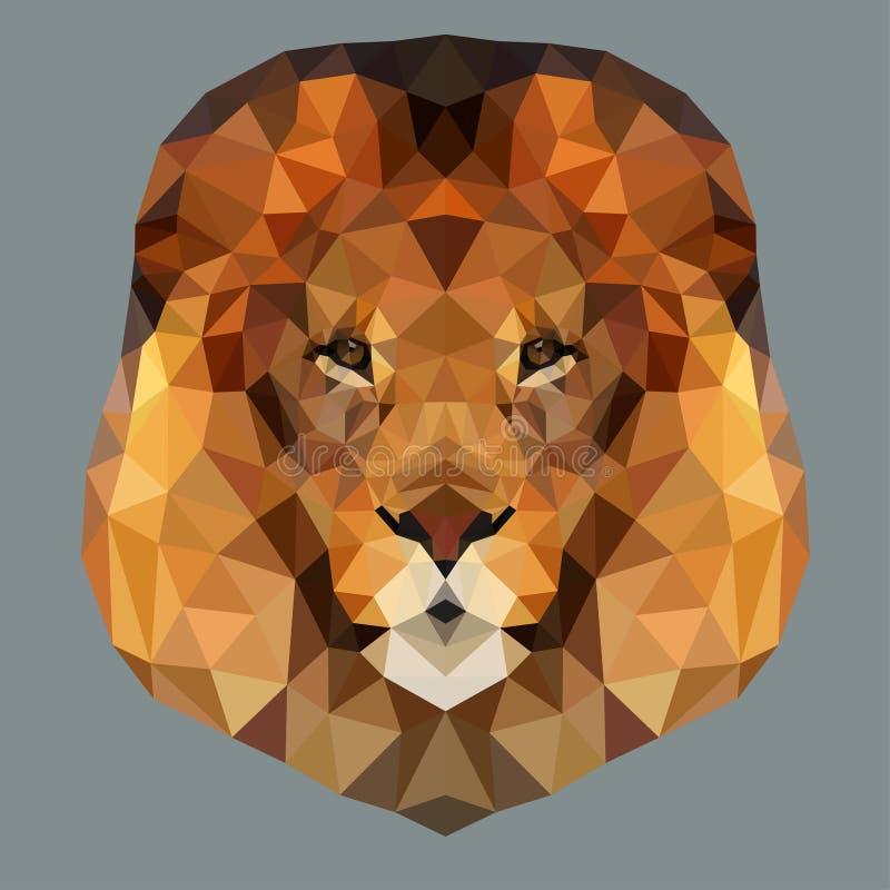 Head bottenläge för lejon stock illustrationer