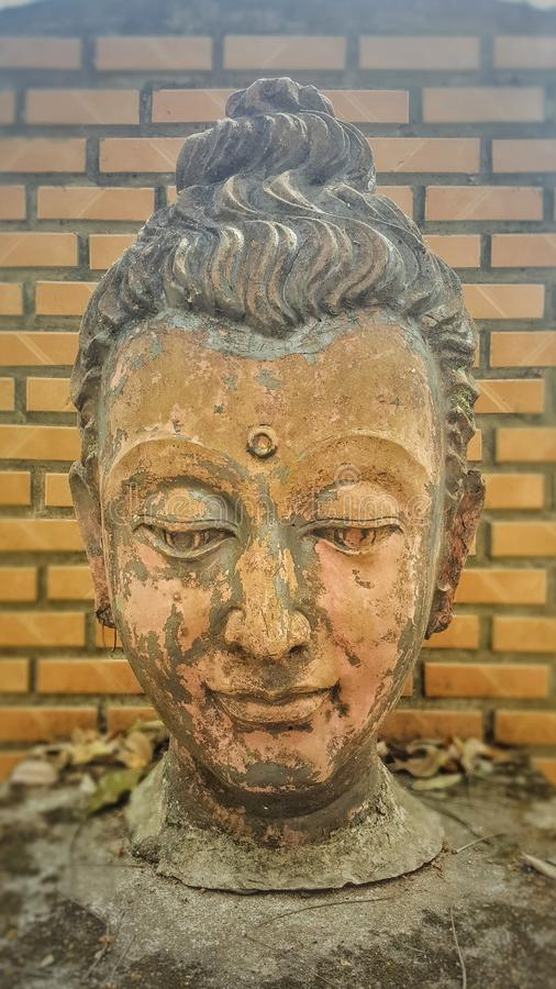 Head of buddha statue royalty free stock photo