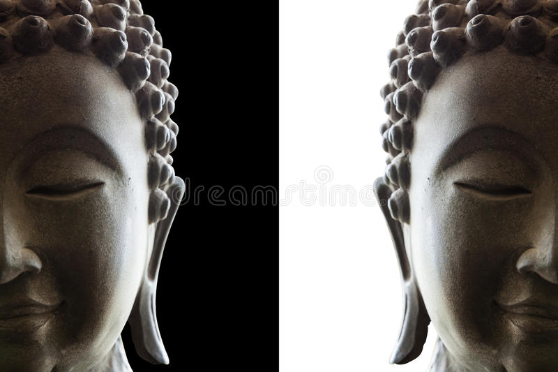 Head of buddha stock photography