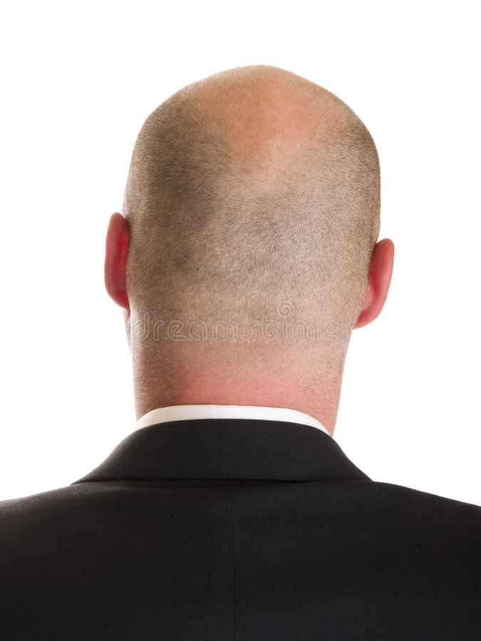 Head - businessman back royalty free stock images