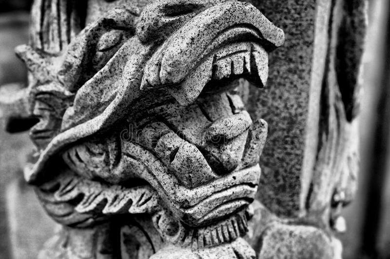 Head of Chinese Dragon. This is one of the statues that I photograph in one of the monastery in the city of Semarang, Central Java. Chinese Dragon is a creature royalty free stock images