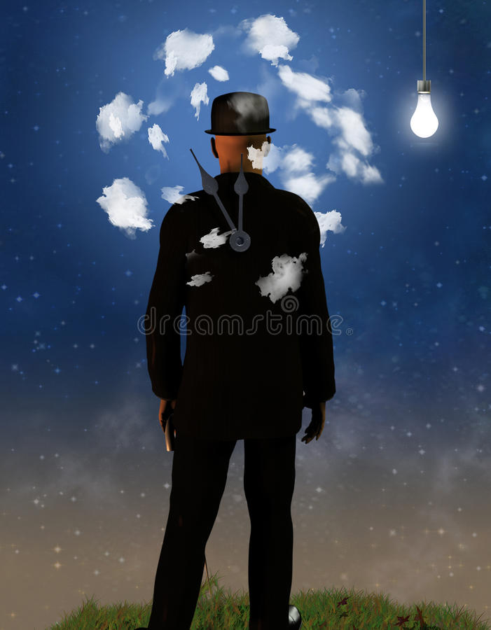Download Head in the Clouds stock illustration. Image of health - 15611764