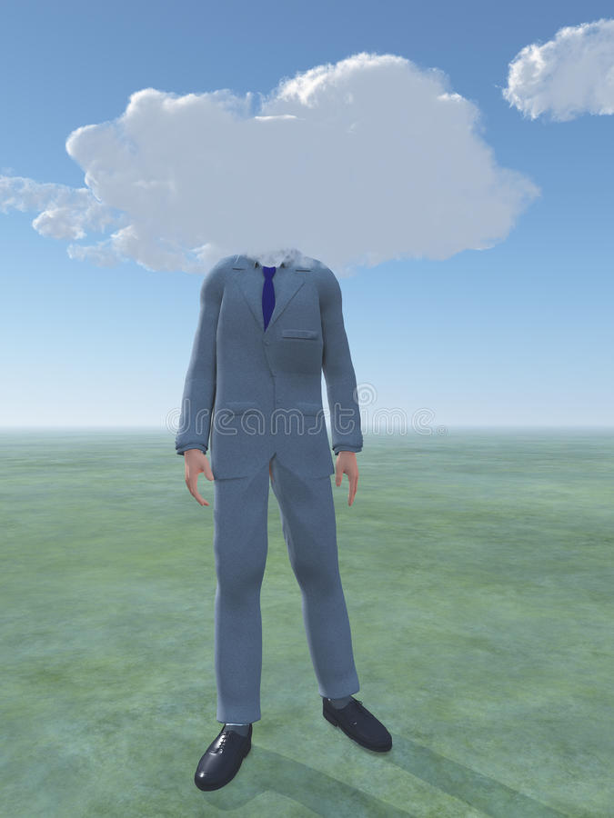 Download Head in clouds stock illustration. Image of daydreaming - 25952211