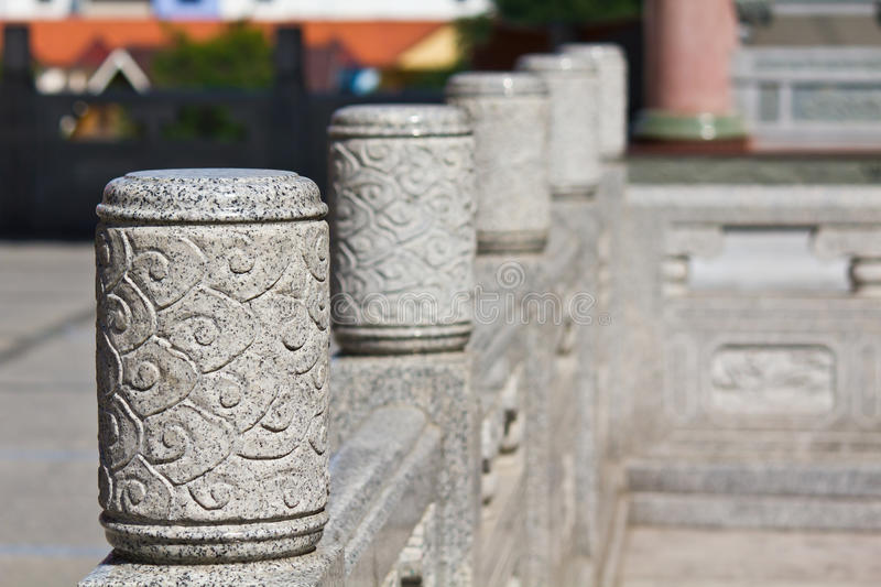 A Head Of Column Chinese Style Royalty Free Stock Image