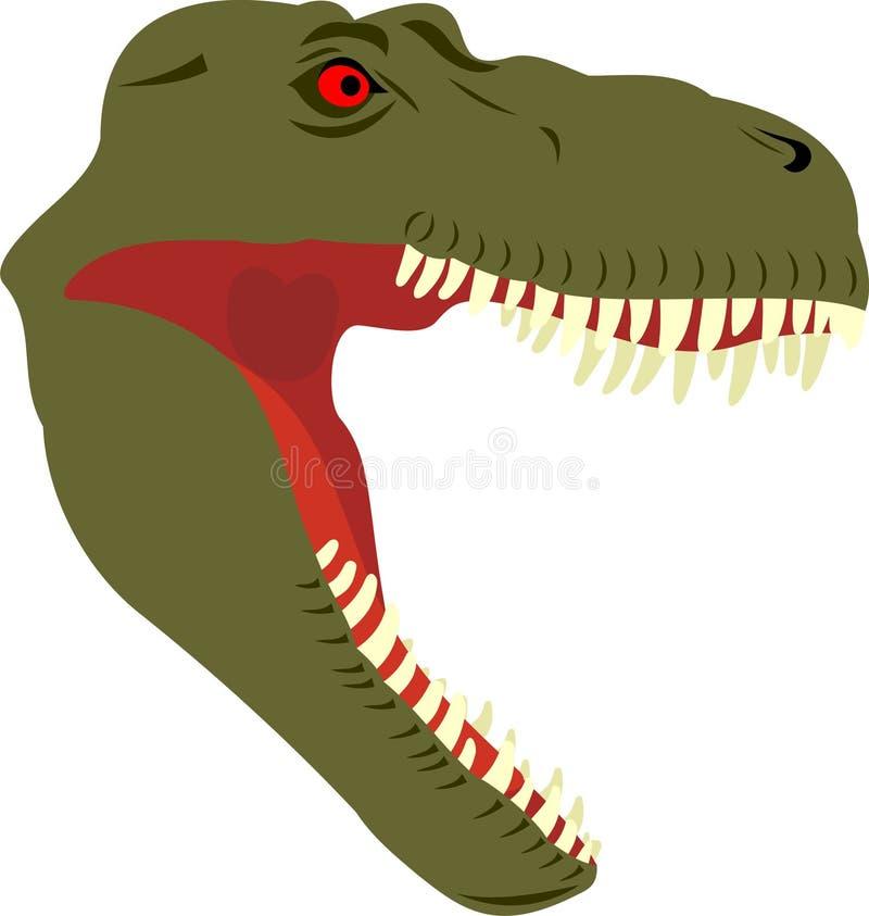 Head Of A Dinosaur Royalty Free Stock Photos