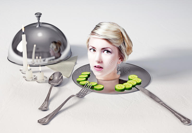 Head on a dish royalty free stock photos