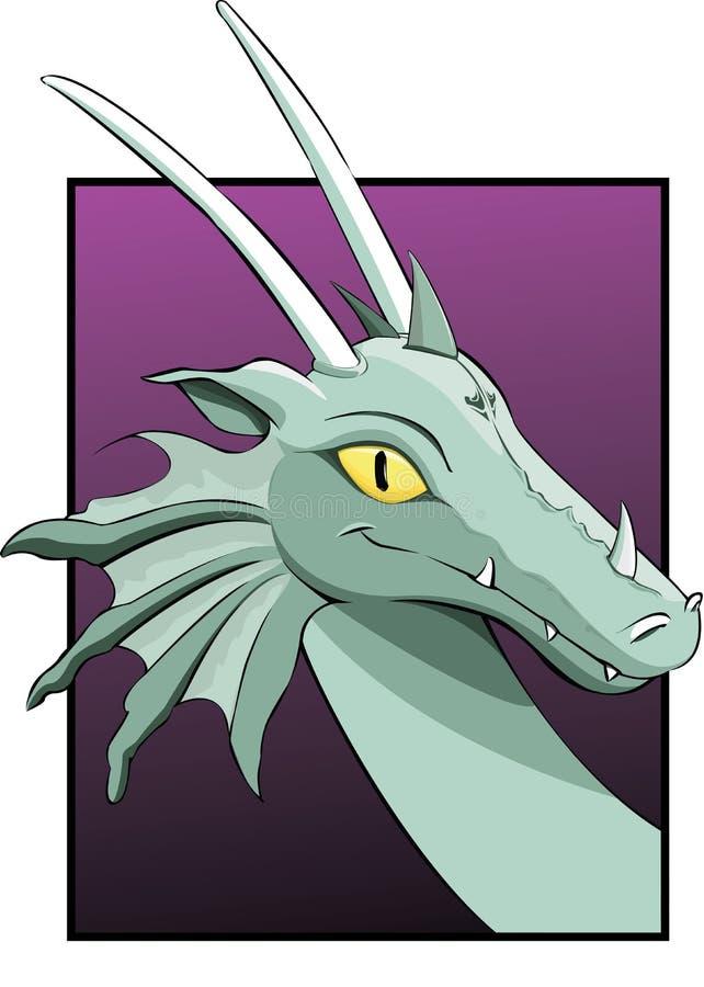 Head of a dragon royalty free stock photos
