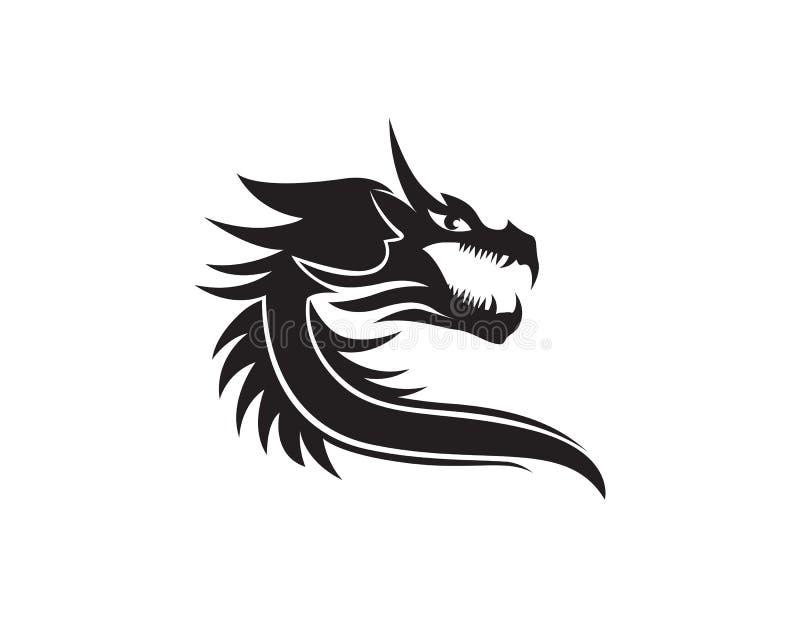 Head Dragon Flat Color Logo Template Vector Illustration Stock ...