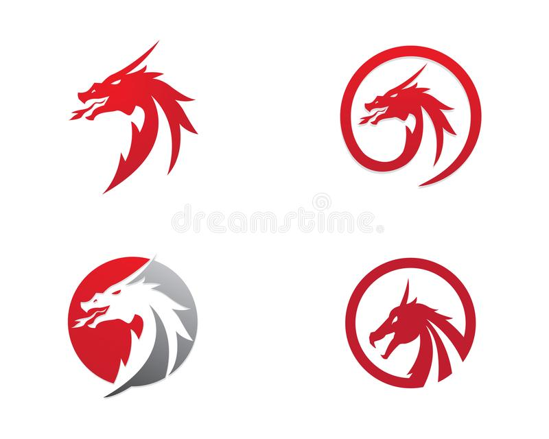 Head dragon logo template stock vector. Illustration of chinese ...