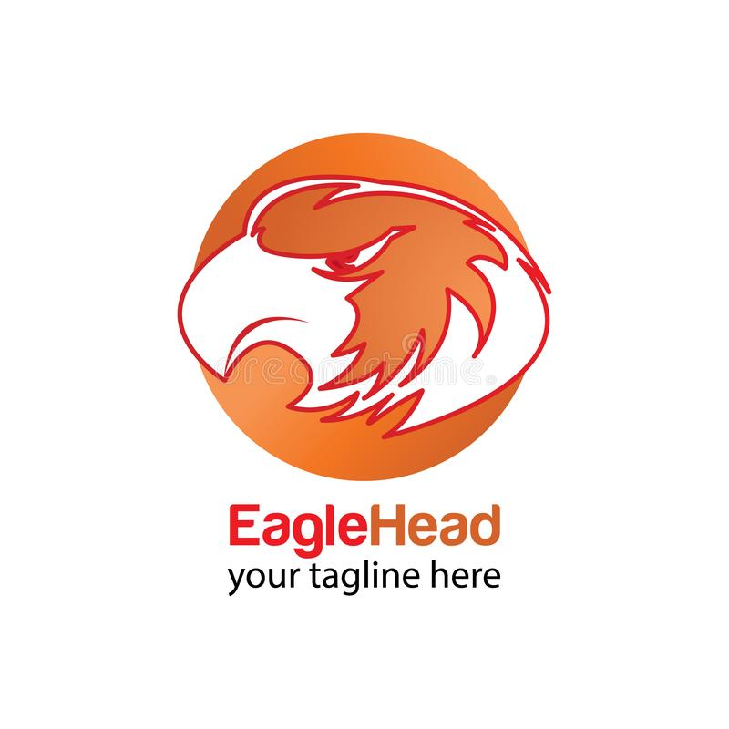 Head eagle circle logo design template royalty free stock photos