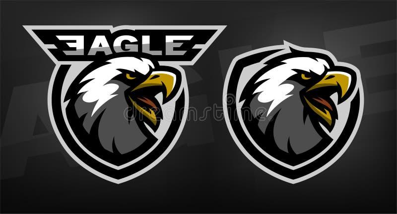 Head of the eagle, sport logo. royalty free illustration