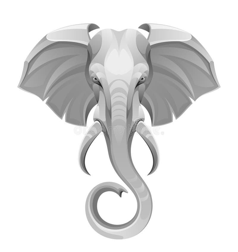 Head elefant stock illustrationer