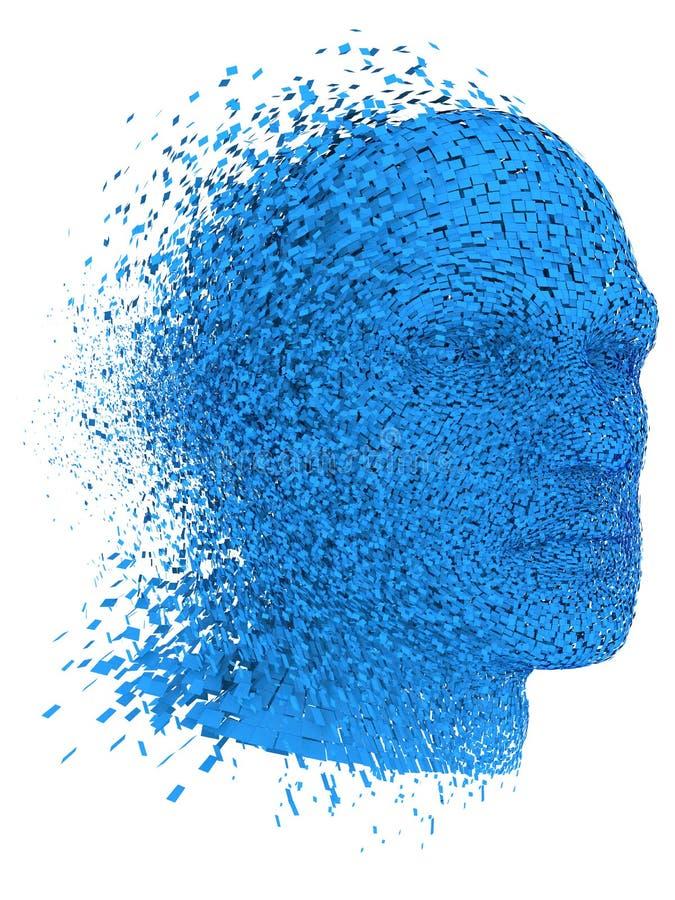 Head exploding. Human head exploding, over white background vector illustration