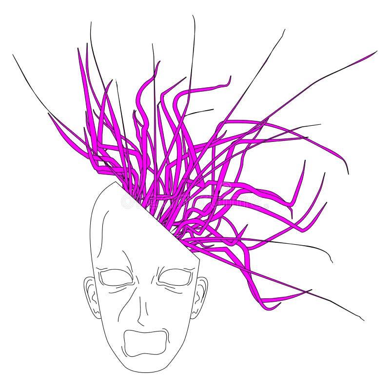 Download Head exploits stock illustration. Illustration of thinking - 16676230