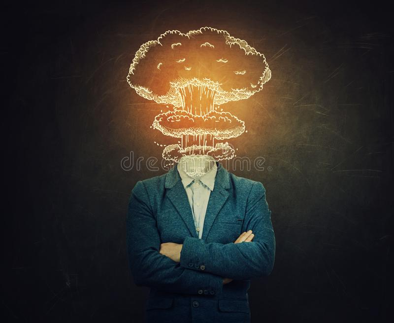 Head explosion arkivfoto
