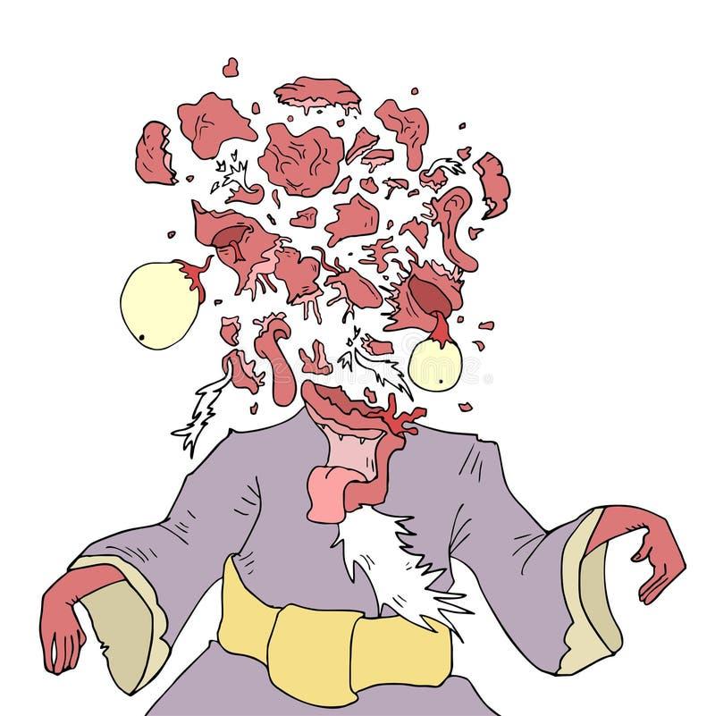 Download Head explosion stock vector. Image of explosion, cartoon - 83720436