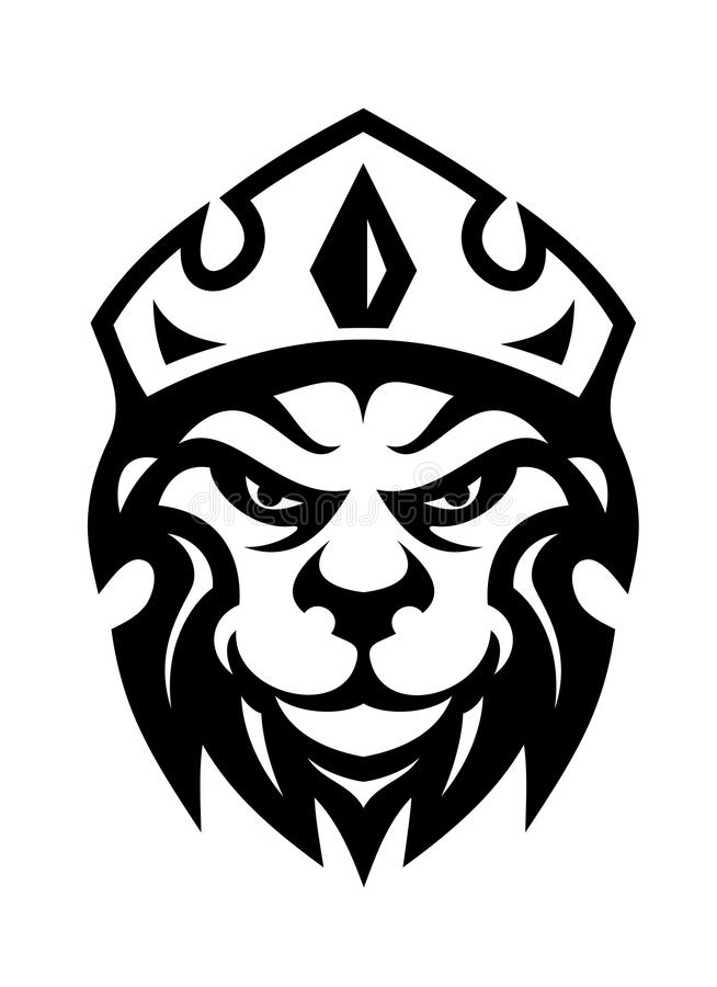 Download Head Of A Fierce Crowned Lion Stock Illustration - Image: 36674121