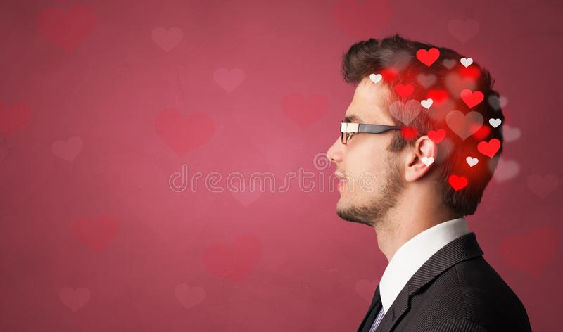 Head with full of love royalty free stock images