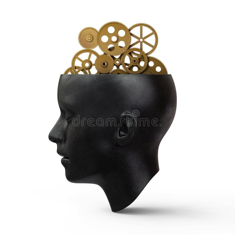 Head With Gears royalty free stock photos