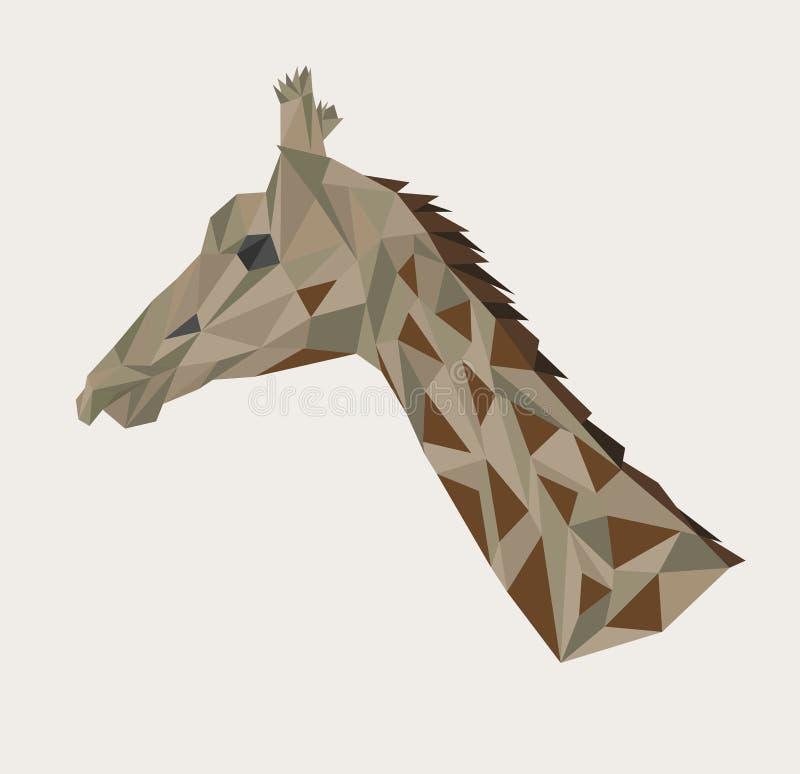 Download Head Of Giraffe Stock Vector Illustration Long