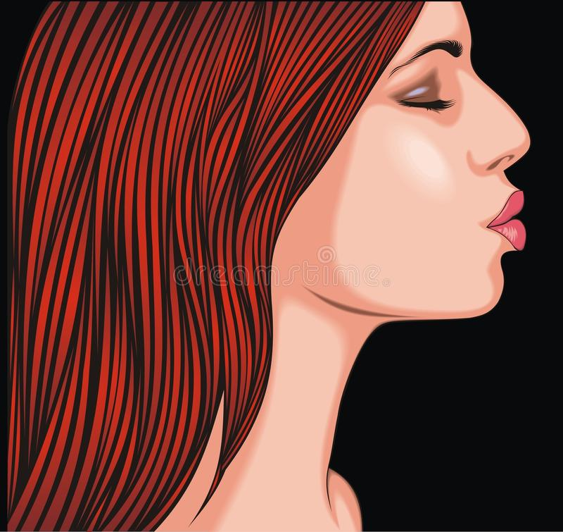 Head of girl vector illustration