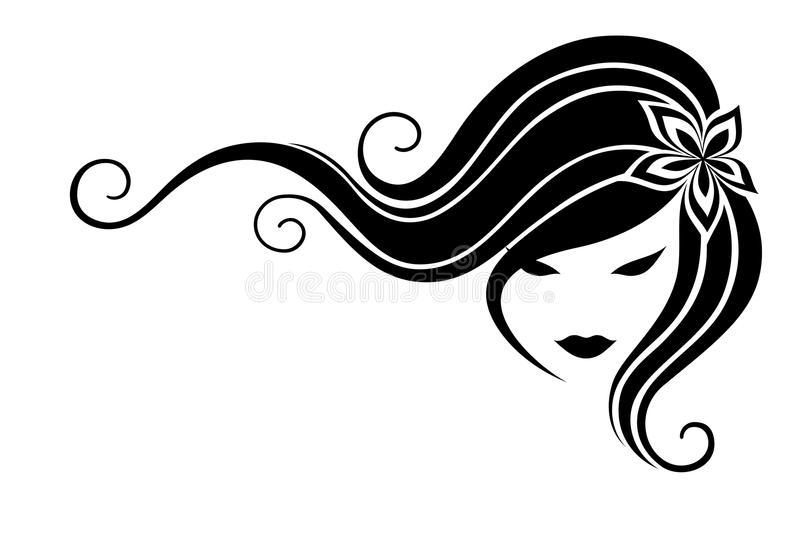 Download Head Of The Girl With Long Hair Royalty Free Stock Images - Image: 16811309