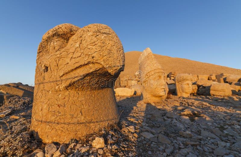 Head of Goddess of Commagene (Tyche). Nemrut, Turkey stock image