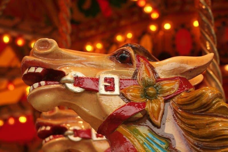 head häst för karusell fotografering för bildbyråer