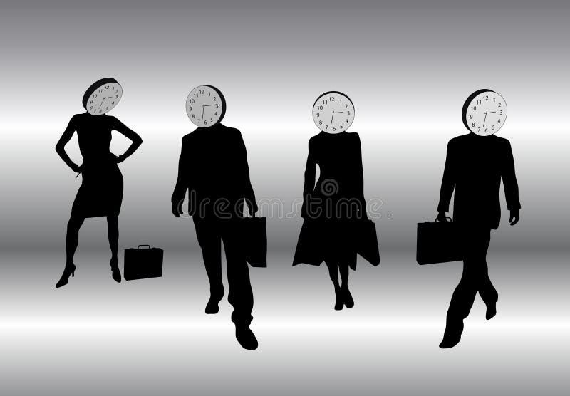 head hållande tid vektor illustrationer