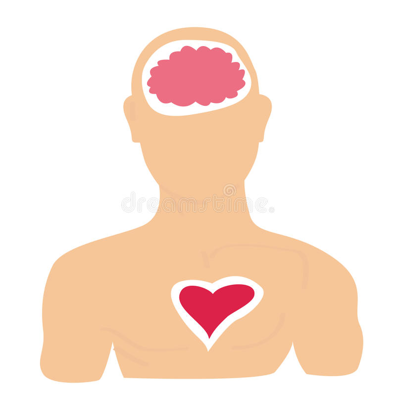 Head and Heart stock illustration
