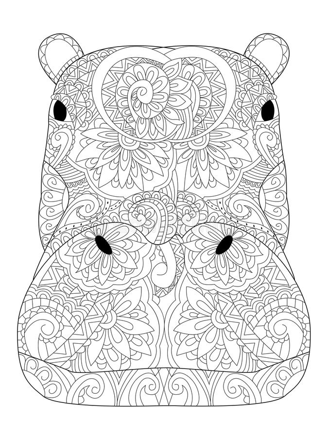Printable Hippo Coloring Pages For Kids | 900x675