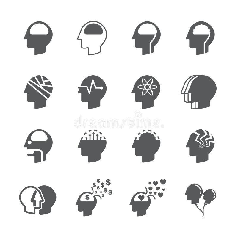 Head icon set vector illustration