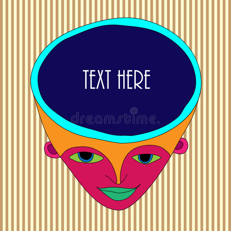 Head illustration stock image