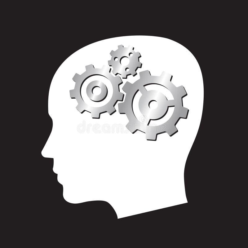 head illustrationvektor för kugghjul vektor illustrationer