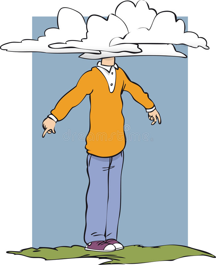 Free Head In Clouds Royalty Free Stock Images - 50460549