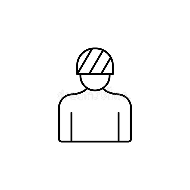 Head, injury, bone icon. Simple thin line, outline  of Bone injury icons for UI and UX, website or mobile application. On white background vector illustration