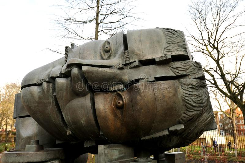 Head of Invention by Eduardo Paolozzi, Design Museum, London royalty free stock images
