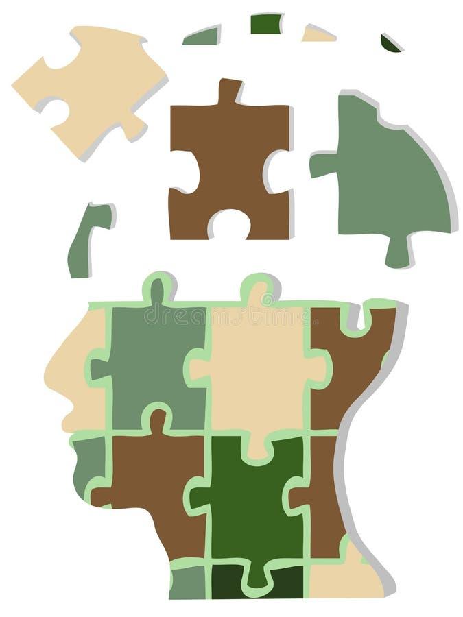 head jigsaw för kamouflage royaltyfri illustrationer