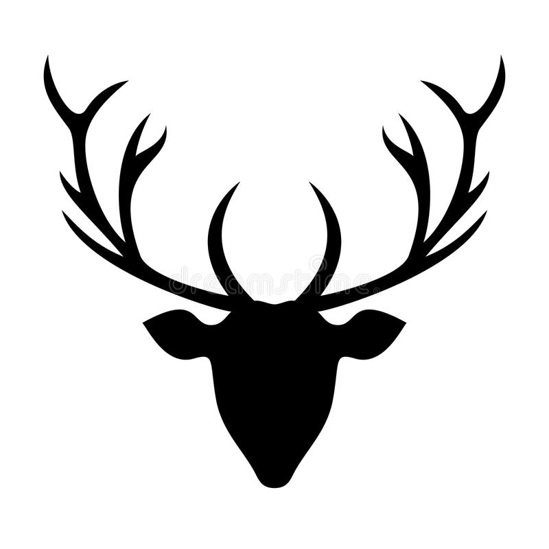 Head kontur för hjortar - illustration arkivfoton
