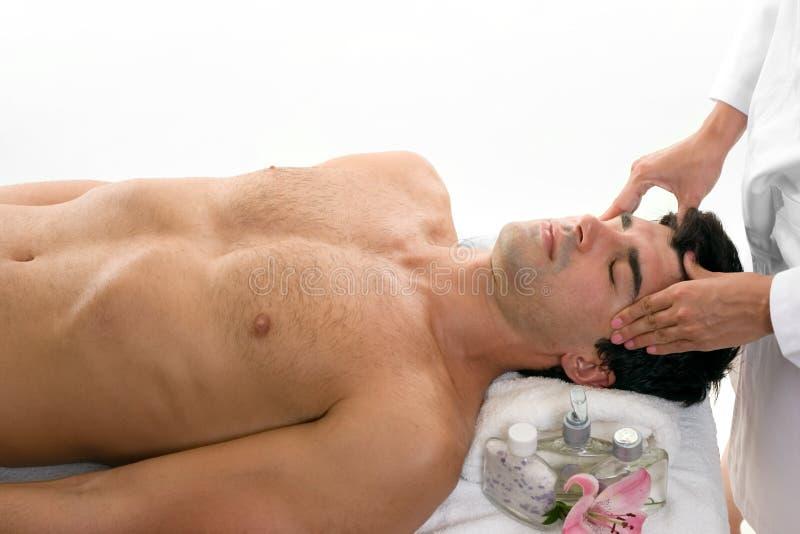 head koppla av för massage royaltyfria foton