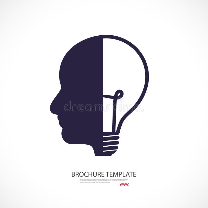 Head lamp - business concept. idea vector illustration