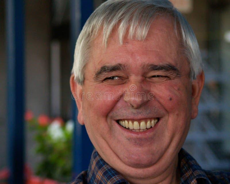 head leende för 2 gray arkivfoto