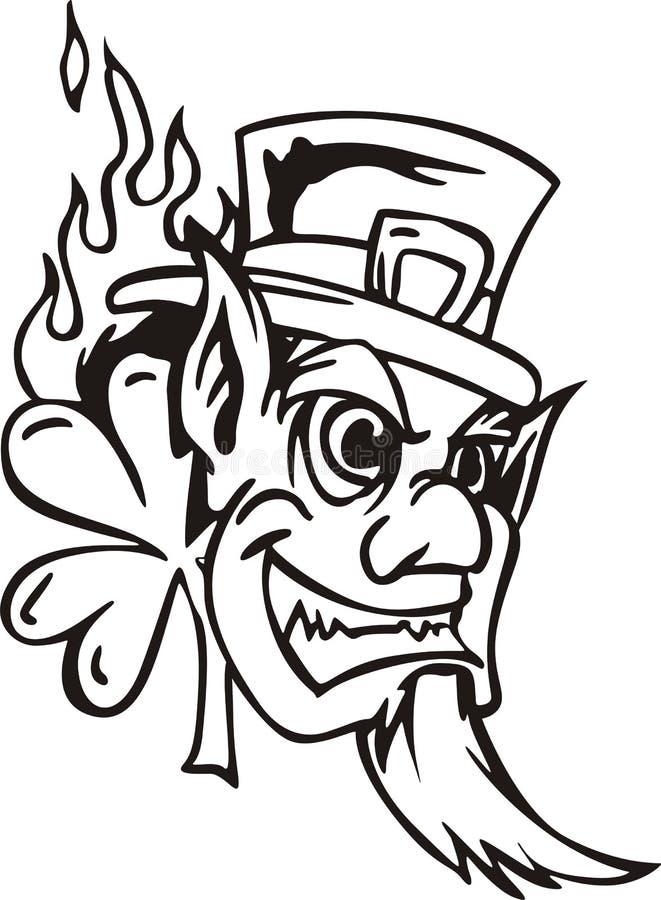 Head of Leprechaun stock illustration