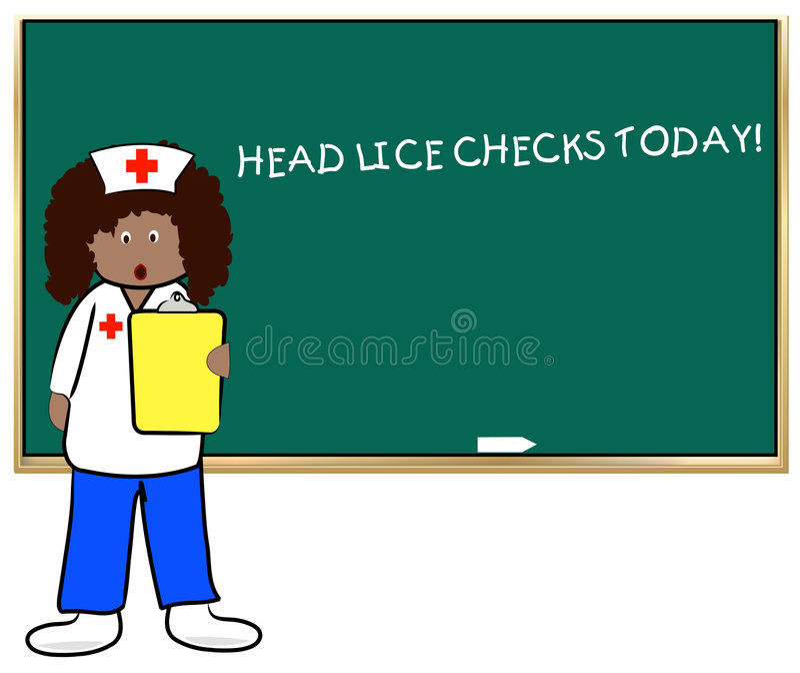 Head lice at school vector illustration