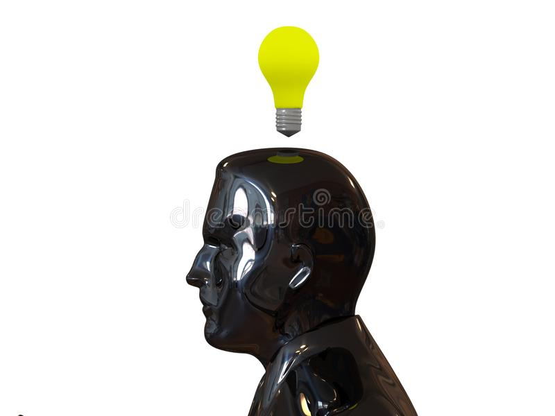 Download Head Light Bulb. Idea Concept. Royalty Free Stock Images - Image: 26580159